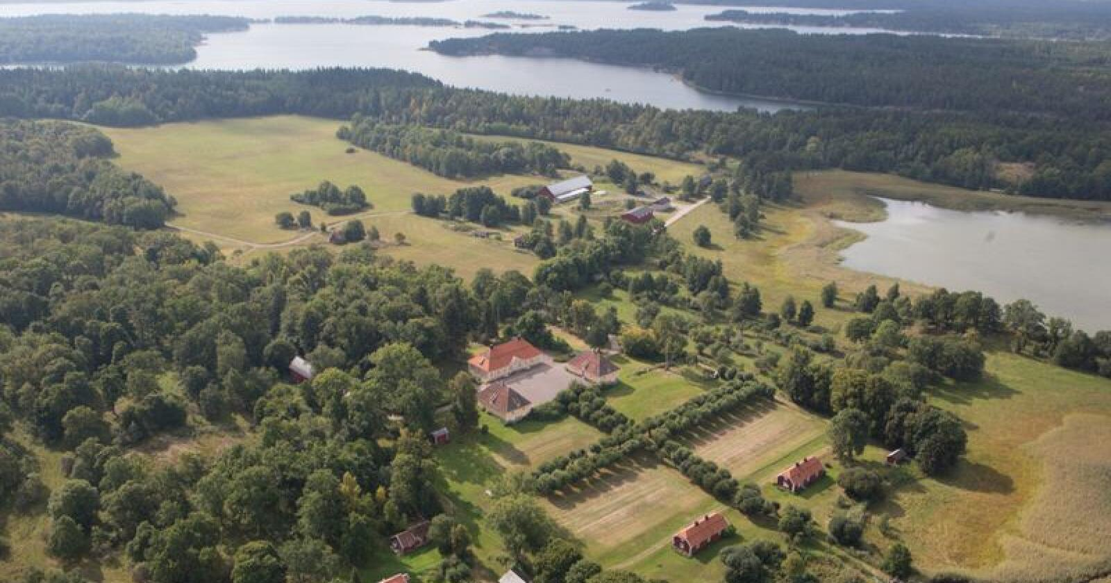 Engelholms herregård i St Annas skärgård i Östergötland. Foto: Karl Danielsson Egendomar