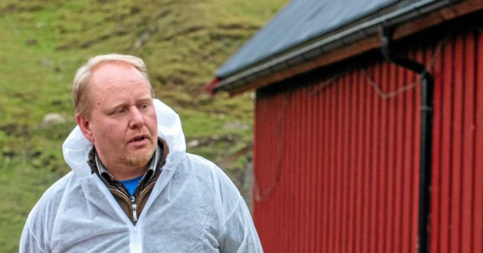 Kritisk til kompensasjon: Lars Ole Bjørnbet, leder i Trøndelag pelsdyralslag. Foto: Håvard Zeiner