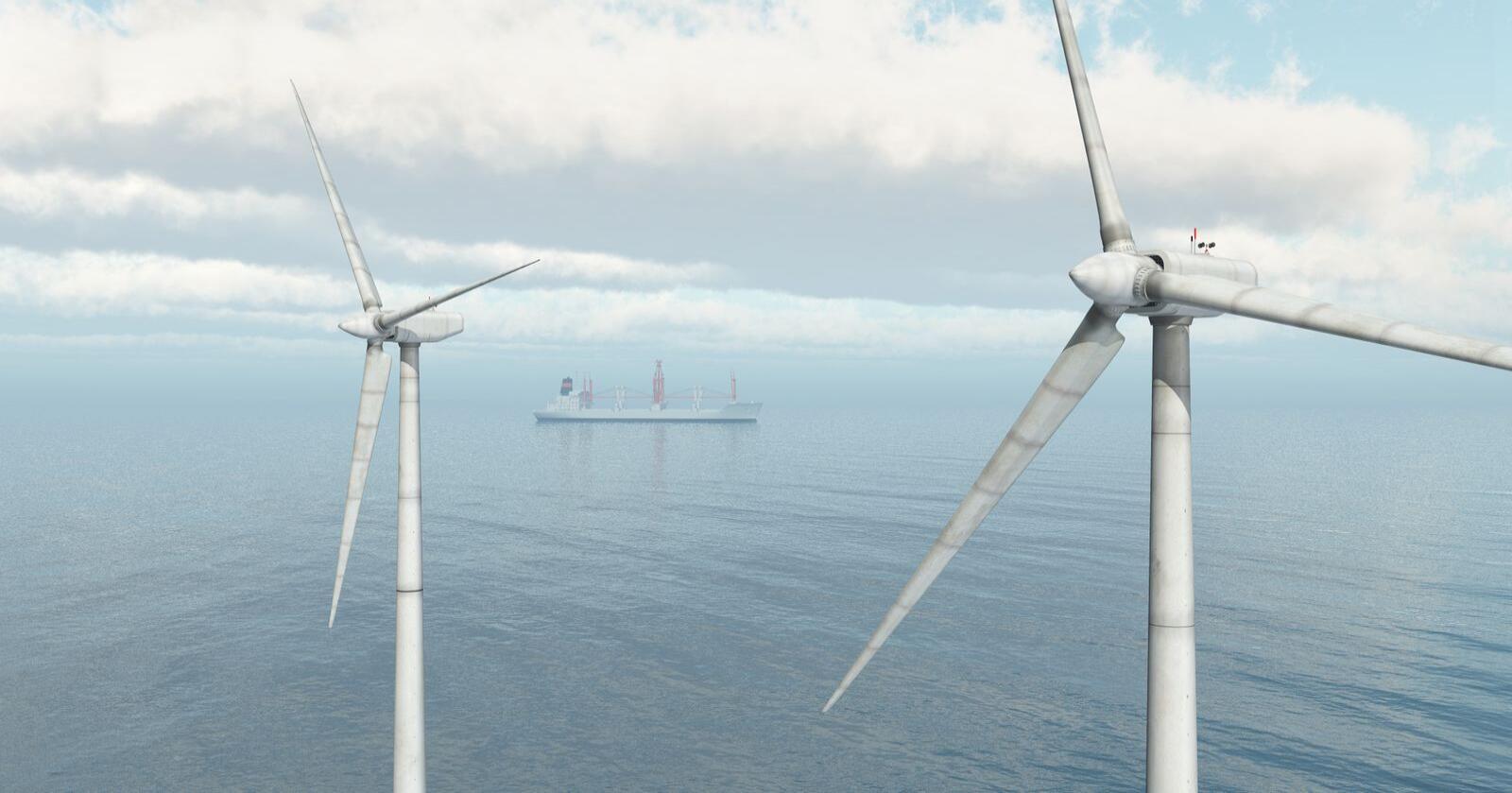 Eksportvare: Med havvindteknologi kan norsk leverandørindustri få en ny grønn eksportvare, skriver forfatterne av innlegget. Foto: Mostphotos