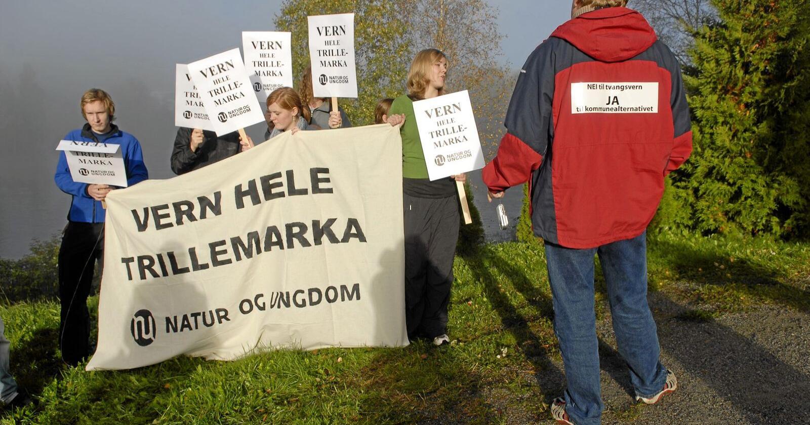 Støy: Tvangsvern av Trillemarka ga en seks år lang og konfliktfylt prosess. Foto: Jon-Are Berg-Jacobsen