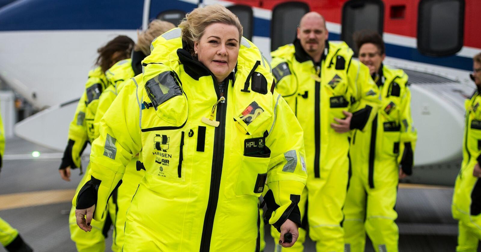 Statsminister Erna Solberg (H) deltok tirsdag under den offisielle åpningen av Johan Sverdrup-feltet i Nordsjøen. Foto: Carina Johansen / NTB scanpix