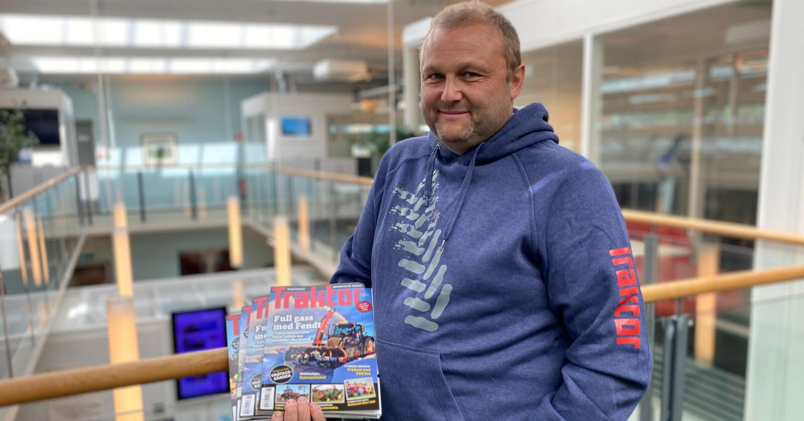Traktor: Espen Opheim går fra maskinbransjen til mediebransjen og starter denne uka jobb som journalist i Traktor.no