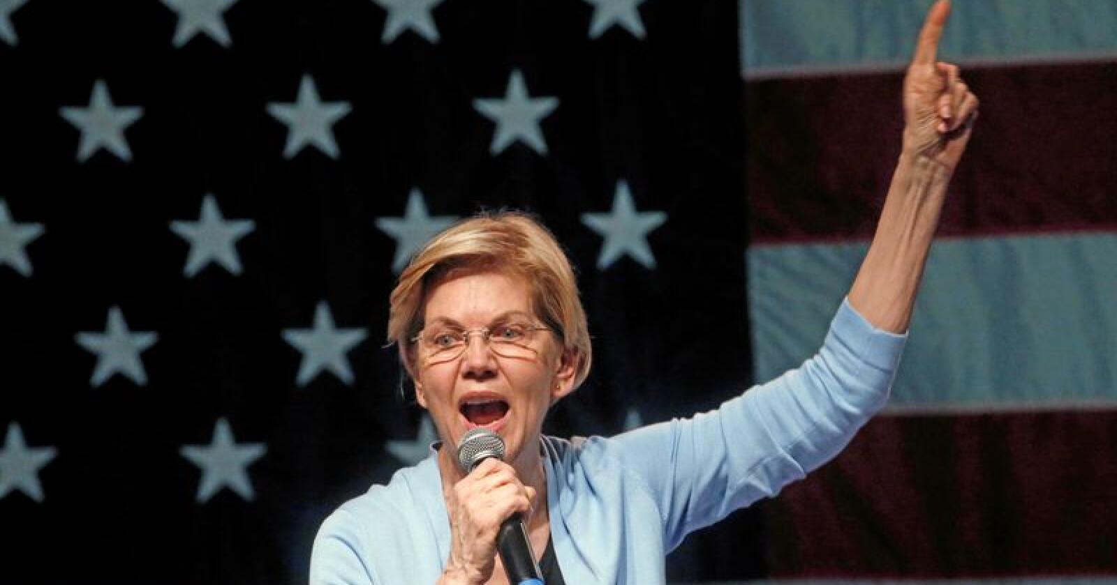 Den Demokratiske presidentkandidaten. Elizabeth Warren er en av flere som går til valg på å bryte opp amerikansk landbruksmakt til fordel for bøndenes rettigheter. Foto: Rick Bowmer / AP / NTB Scanpix