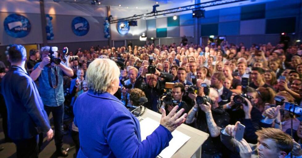 Valgvinner 2017: Statsminister Erna Solberg synes ikke noe om folkeavstemninger, annet enn de som handler om Stortingets sammensetning. Foto: Heiko Junge / NTB scanpix
