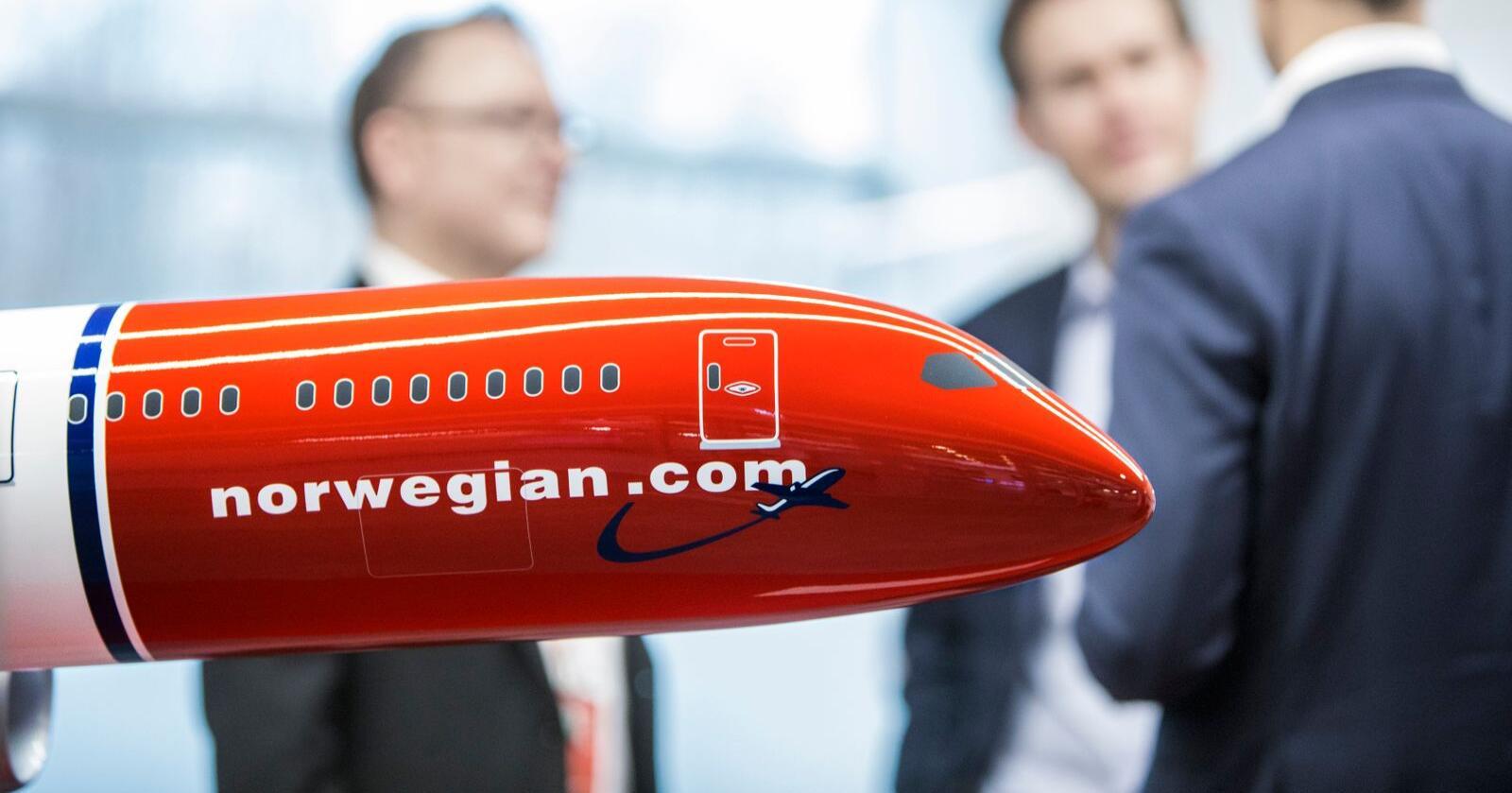 Flyselskapet Norwegian la fram årsresultat torsdag. Resultatet er preget av at Max-flyene står på bakken, samt problemer med motoren til Dreamliner-flyene. Foto: Ole Berg-Rusten / NTB scanpix