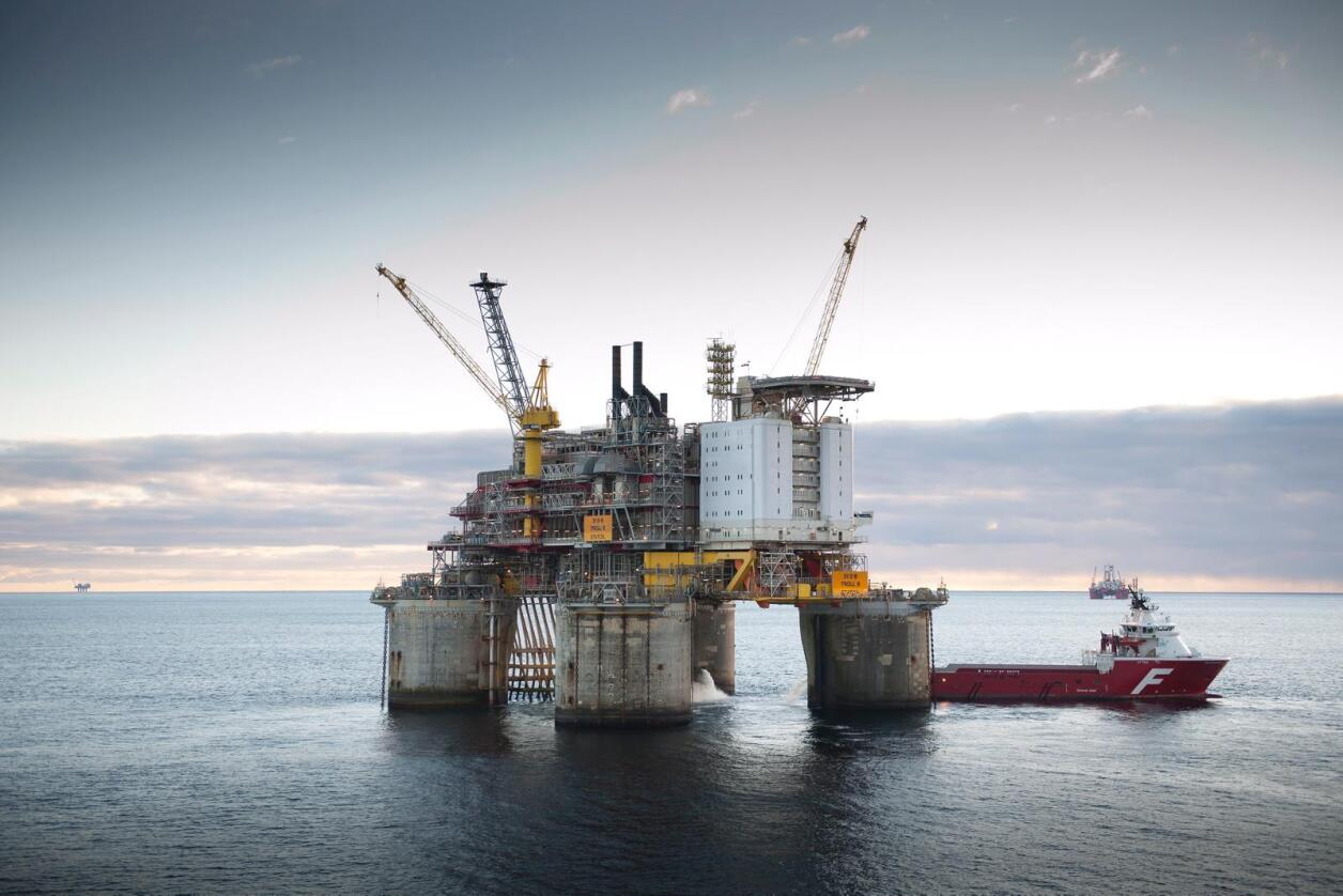 Dropper norsk: Det blir mindre norske meiriprodukter på Statoils oljeplattformer i Nordsjøen. Foto: Statoil.