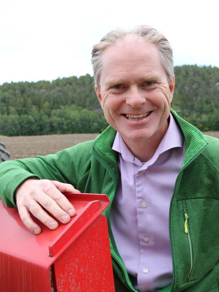 BONDE: Ole Johan Borge har drevet familiegården i Fredrikstad siden 2006.