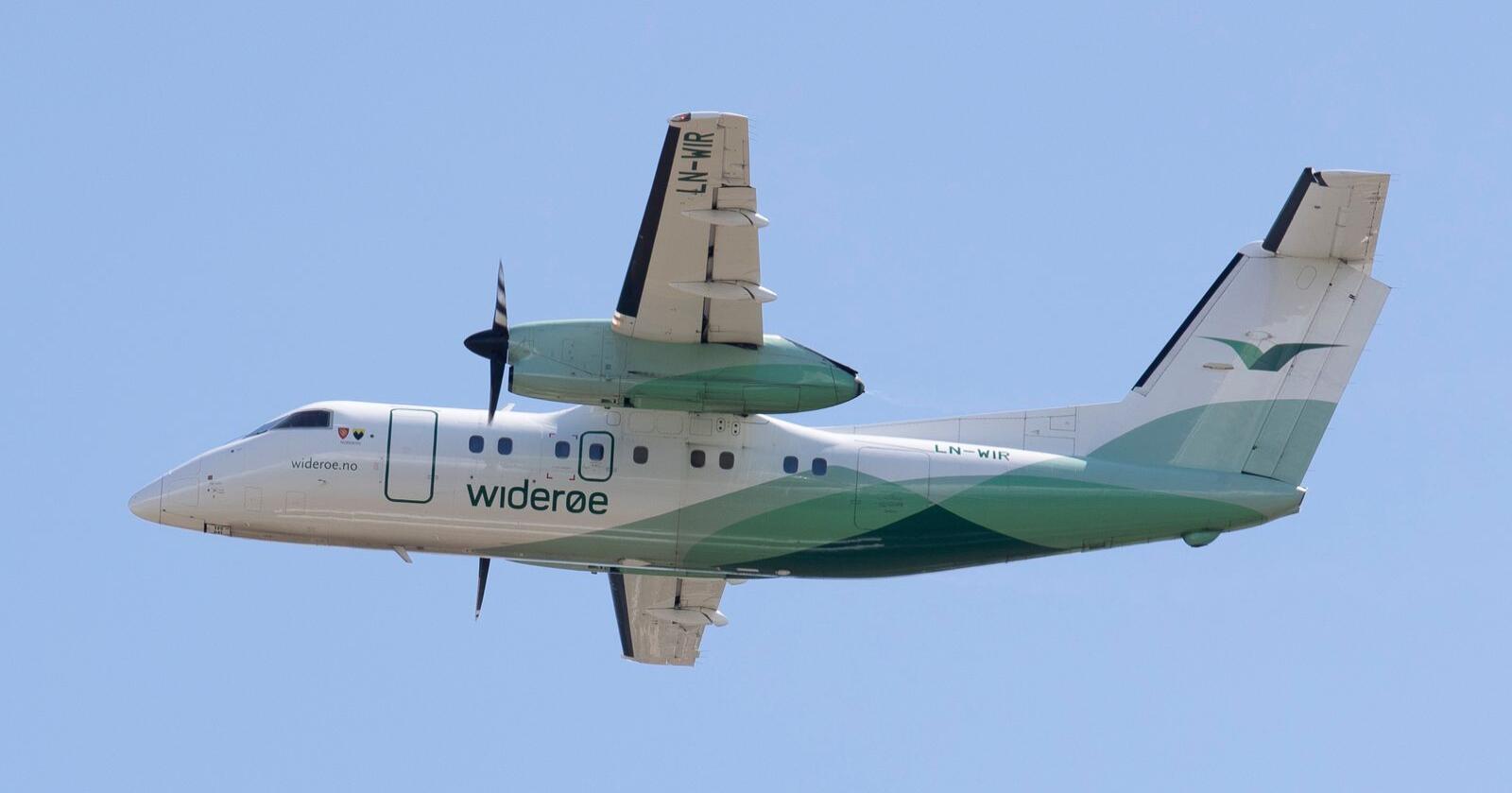 Widerøe er bekymret over et økt samlet avgiftsnivå for luftfarten. Foto: Torstein Bøe / NTB