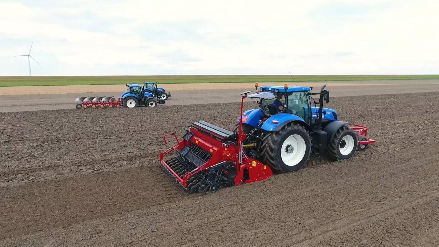 New Holland Agriculture skal i framtiden forvalte arven fra Överum, Kongskilde og JF. (Foto: Kongskilde)