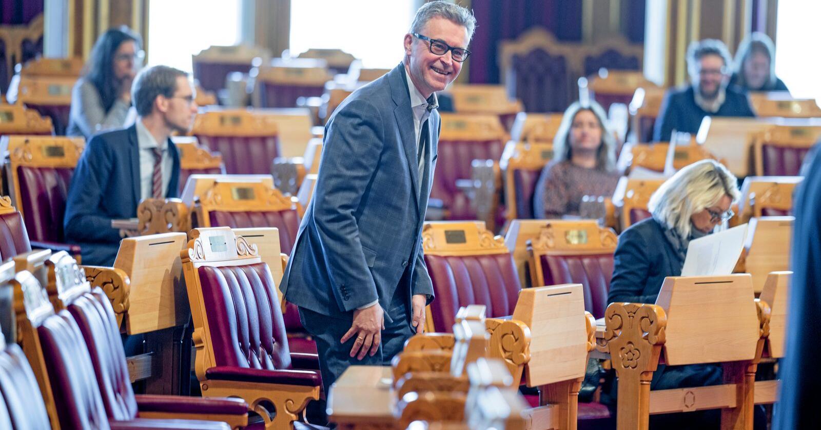 Bortreist: Når hørte vi sist fra fiskeriminister Odd Emil Ingebrigtsen (H)? Foto: Stian Lysberg Solum / NTB
