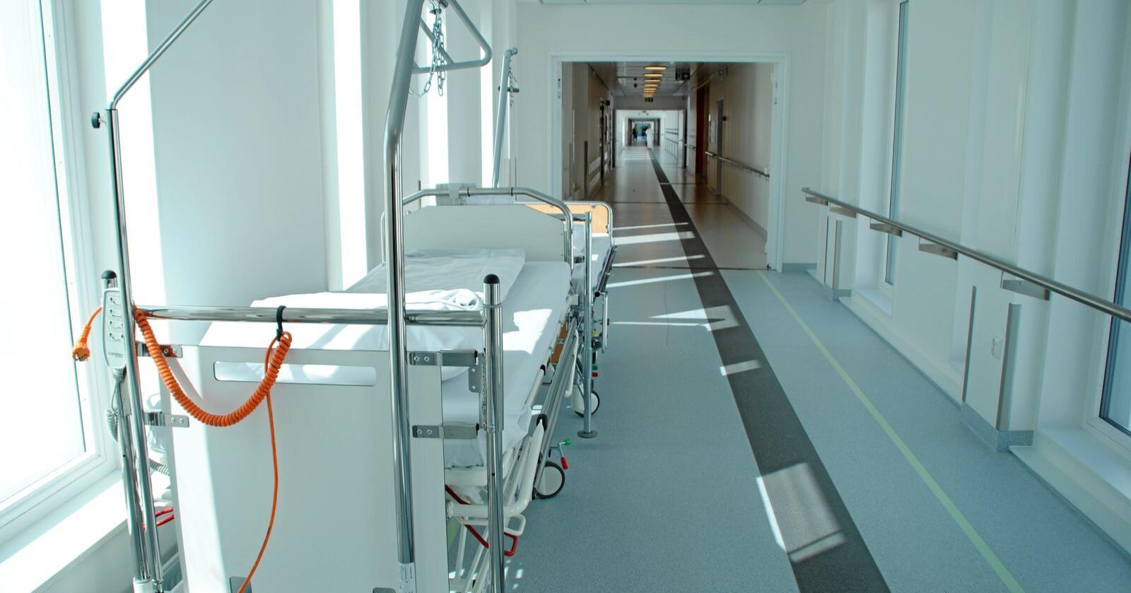 Sykehuset i Østfold er for lite. Regjeringa vil ikke bidra med ekstramidler til å utvide sykehuset. Foto: Lars Bilit Hagen