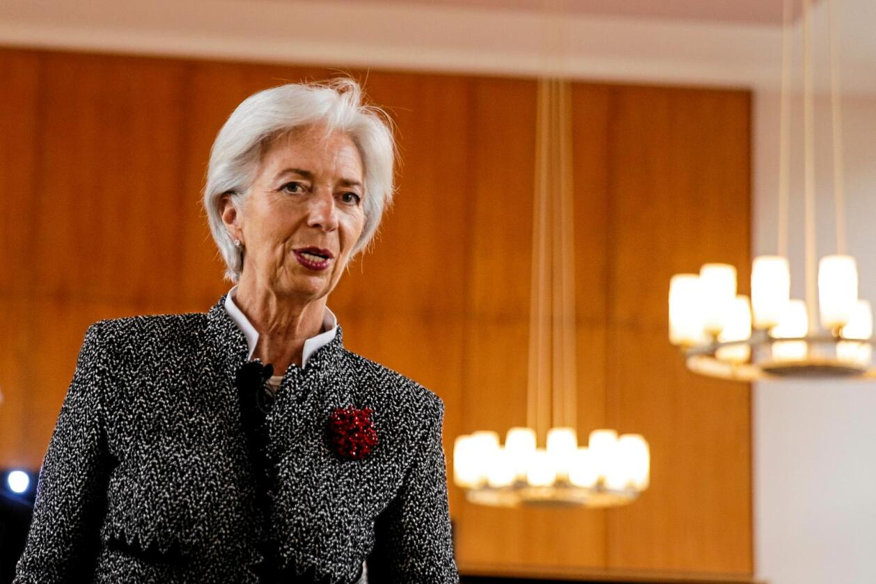 IMF-leder Christine Lagarde er bekymret for at handelskrangelen mellom USA og Kina kan ramponere et helt globalt system. Foto: Markus Schreiber / AP / NTB Scanpix