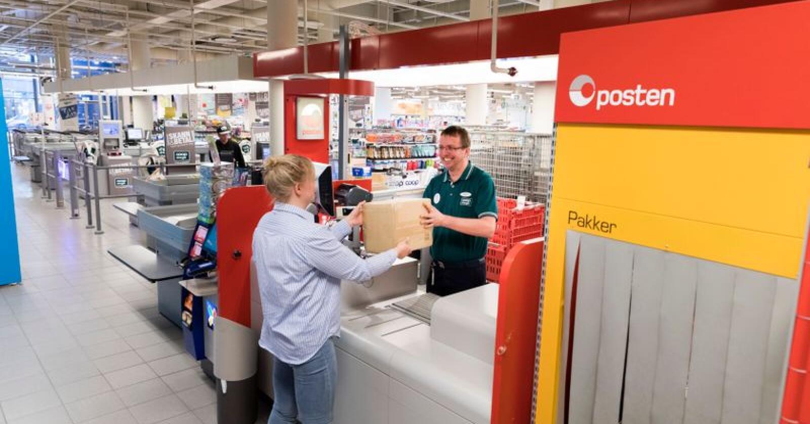 Ein gong i 2020 får du ikkje lenger utført banktenester gjennom DNB på Posten. Foto: Gorm Kallestad / NTB scanpix / NPK