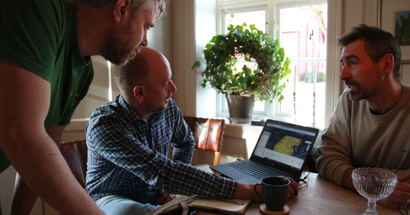 Fra venstre; Åsmund Langeland, Thorleif Aas og Christian Diskerud Meyer. Foto: Knut Houge