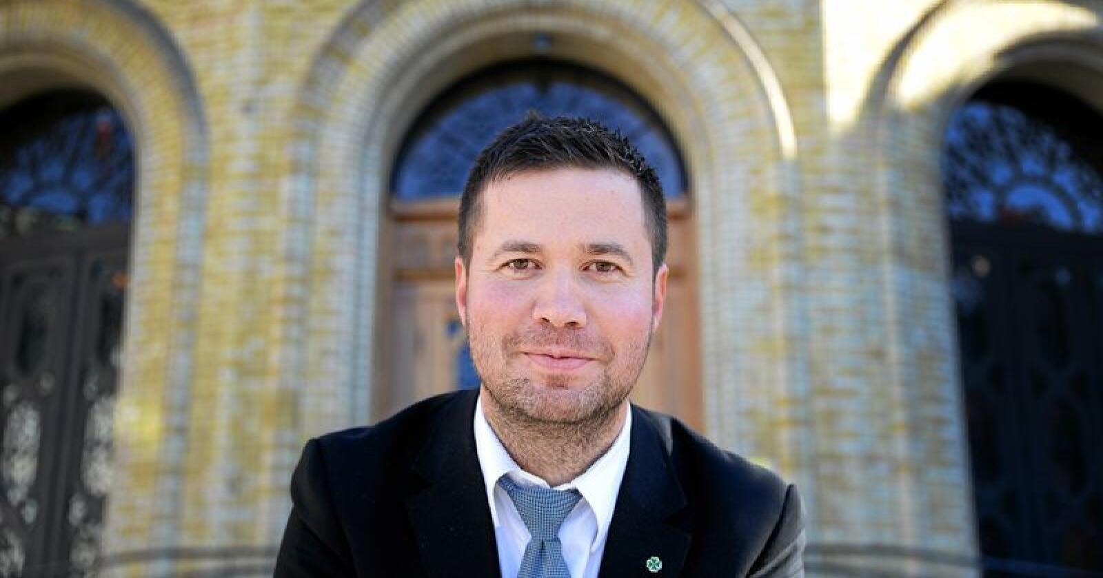 Næringspolitisk talsperson for Sp, Geir Pollestad. Foto: Siri Juell Rasmussen