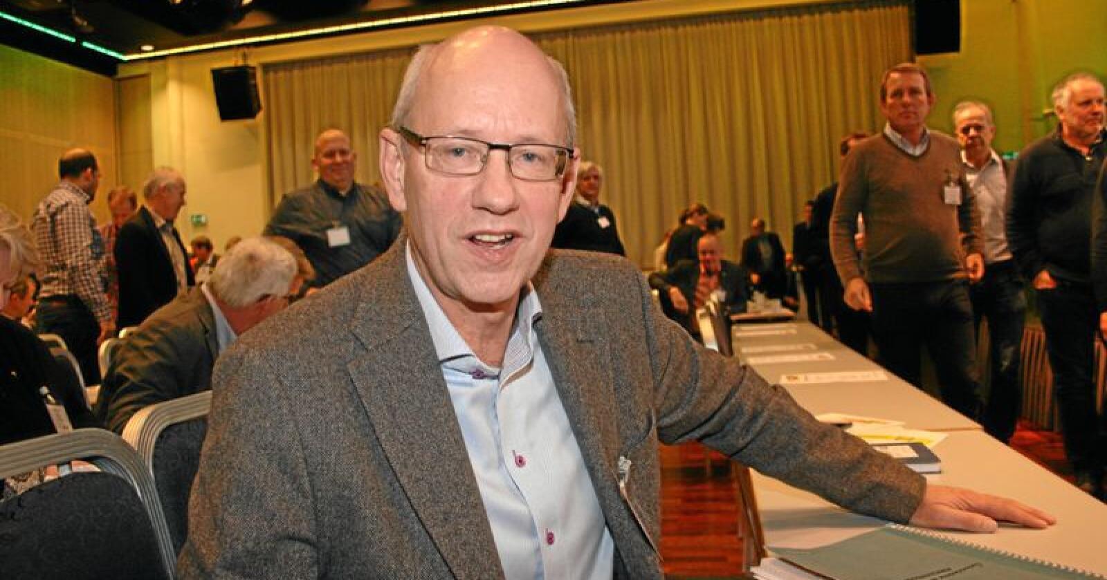 Optimist: Administrerande direktør i Norske Felleskjøp, Lars Fredrik Stuve, seier han er optimistisk med tanke på å få reetablert beredskapslagring av matkorn. Foto: Bjarne Bekkeheien Aase