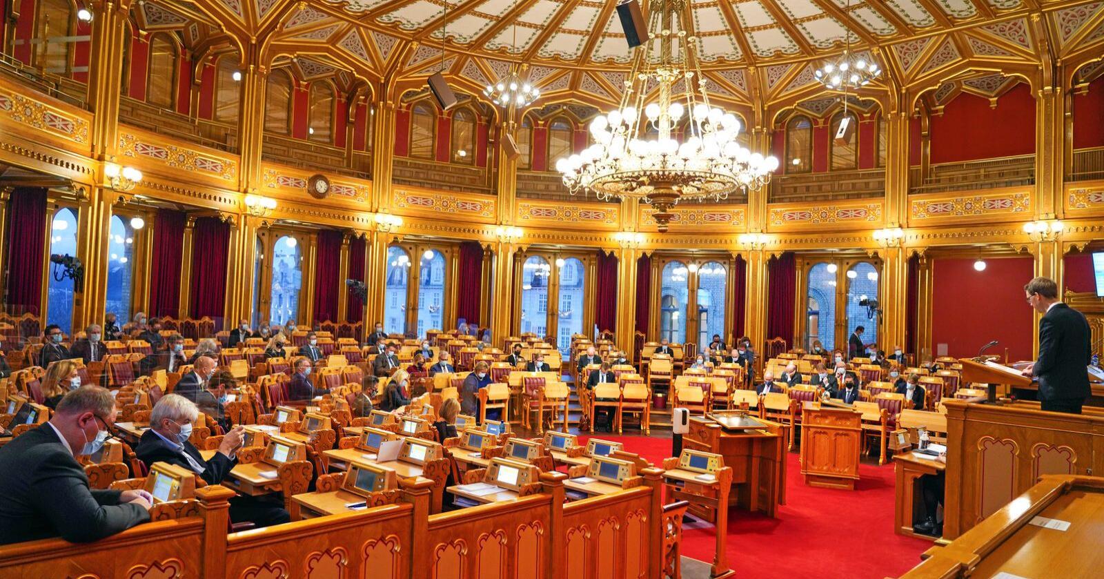 """""""All makt"""": Høyesterett mener stortingsflertallet kan bruke salamitaktikk for å flytte makt til EU. Foto: Ole Berg-Rusten / NTB"""