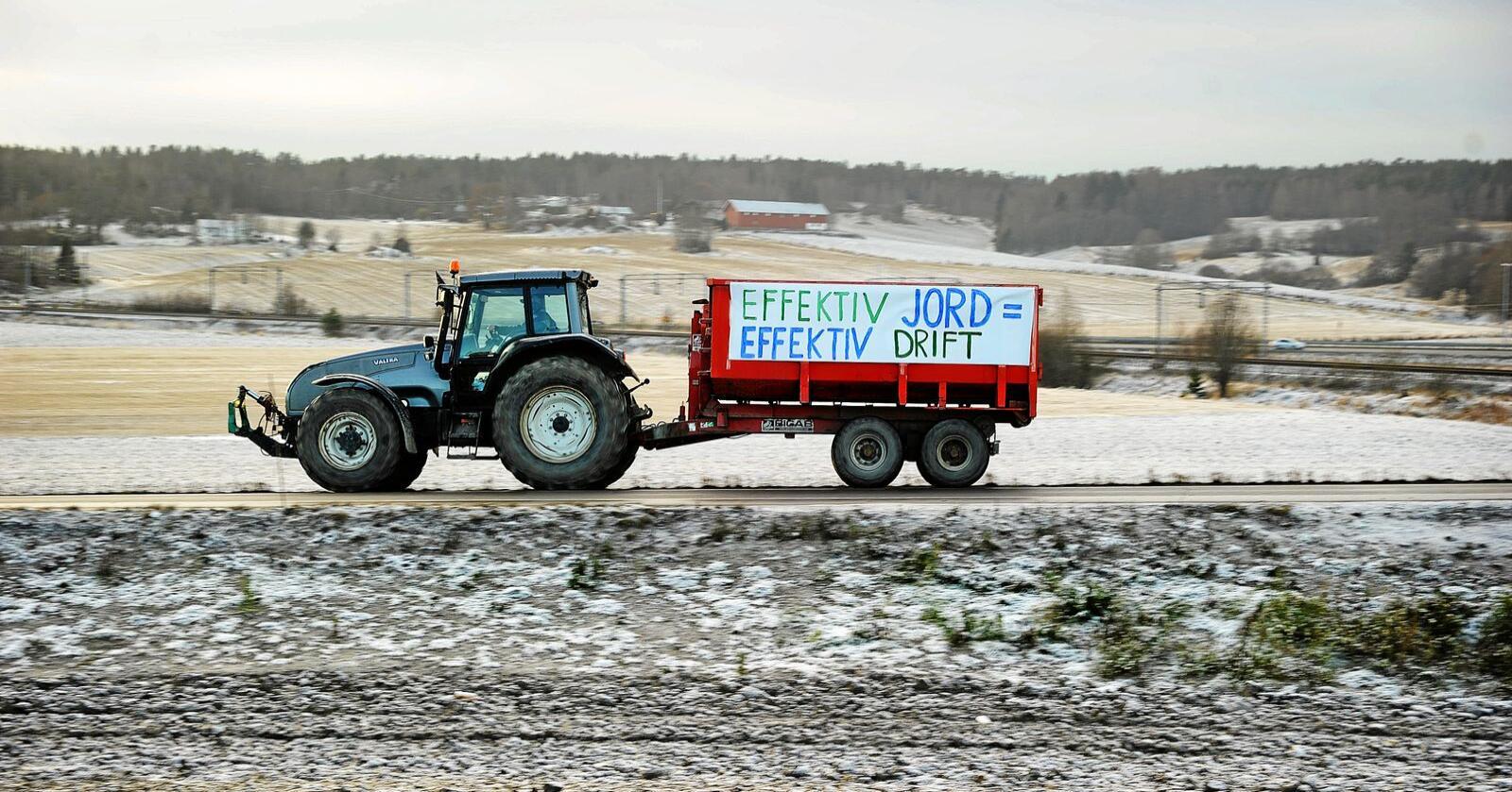Jordvern: For ordens skuld - biletet er ikkje frå Sogn og Fjordane, men frå Vestby. Foto: Siri Juell Rasmussen