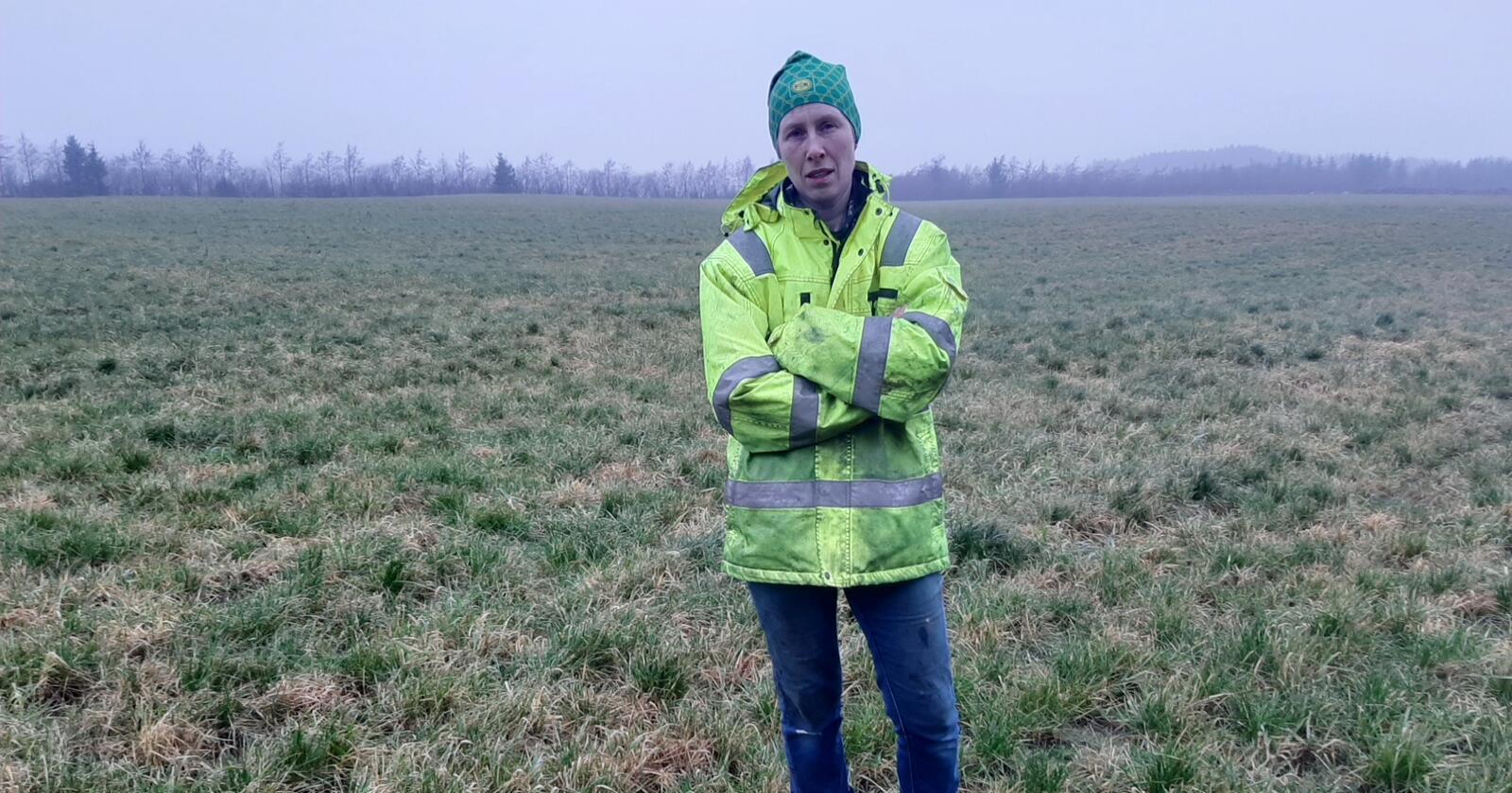 Motstod presset: Time-bonde Anne Frøyland Grødem takket nei til 150 millioner kroner fra oppkjøpere som ville sikre seg 300 mål av den dyrka jorda rundt gårdsbruket hennes for å bygge et stort datasenter. (Foto: Privat)