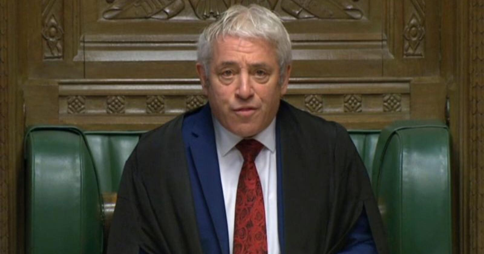 Underhusets leder John Bercow. Foto: House of Commons / AP / NTB scanpix