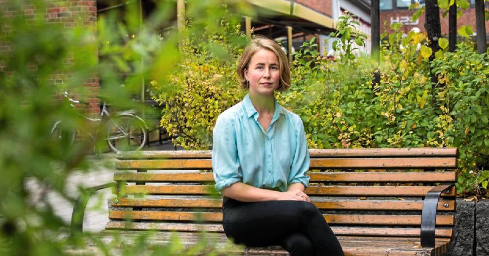 Leder i Framtiden i våre hender, Anja Bakken Riise, mener det er uheldig dersom folk ikke føler de kan diskutere klimatiltak i møte klimaendringene. Foto: Mariam Butt / NTB scanpix