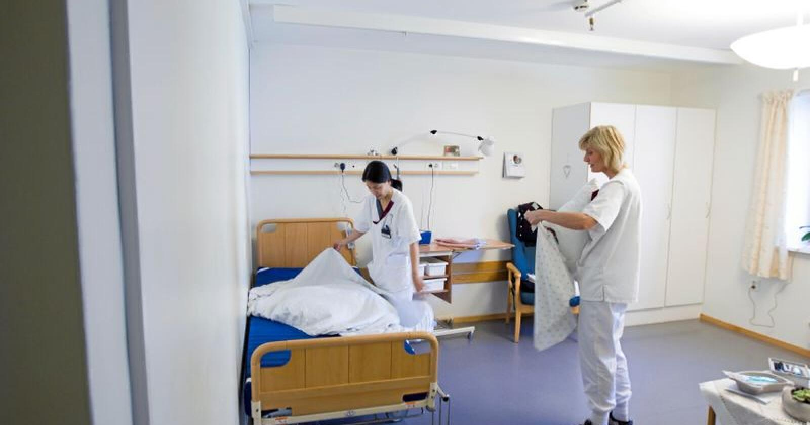 Distrikt: Sjukepleiarutdanninga vart til fordi tilgangen til sjukepleiarar i distriktet var for liten. Foto: Heiko Junge/NTB scanpix