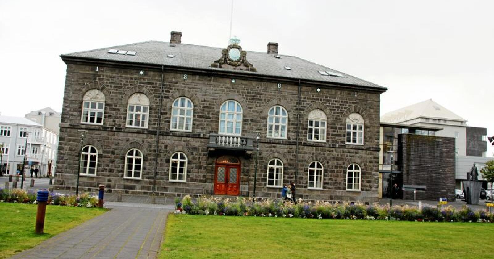 Alltinget: Det islandske parlamentet styrer selv, mener innsenderen. Foto: Lars Billit Hagen