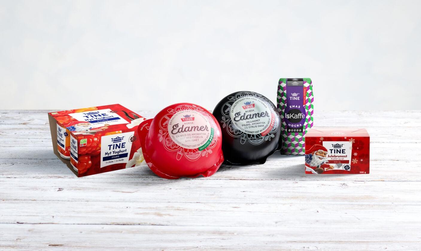 Disse juleproduktene kommer fra Tine i år. Foto: Tine
