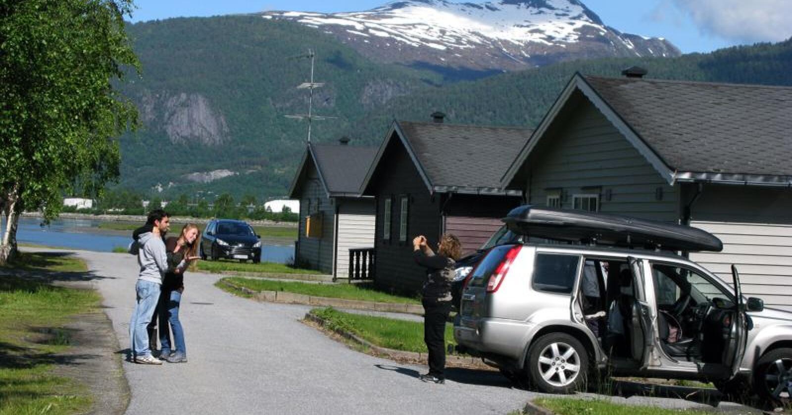 Utenlandske turister i Åndalsnes. Illustrasjonsfoto: Berit Keilen / NTB scanpix