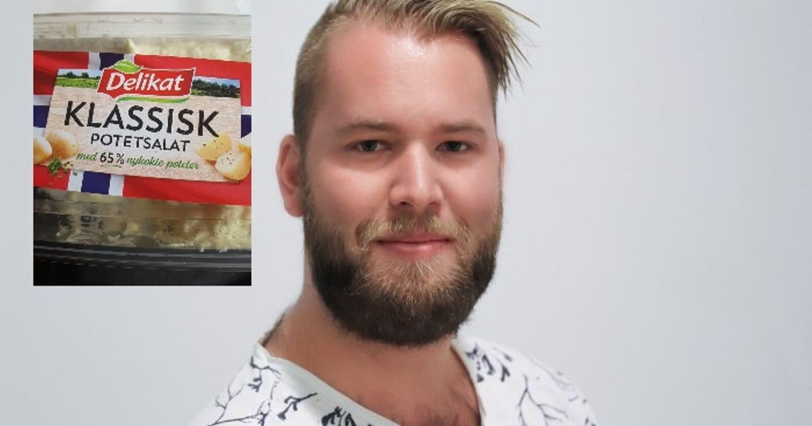 Torleik Svelle i Senterungdommen meiner det må bli enklare for forbrukarar å velge norske matvarer. Foto: Senterungdommen