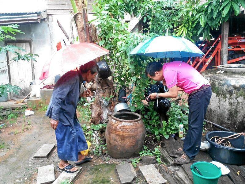 Mygglarver klekkes i slike vannbeholdere som er meget vanlige i husholdninger i Thailand og Laos. Foto: Dengue-Index