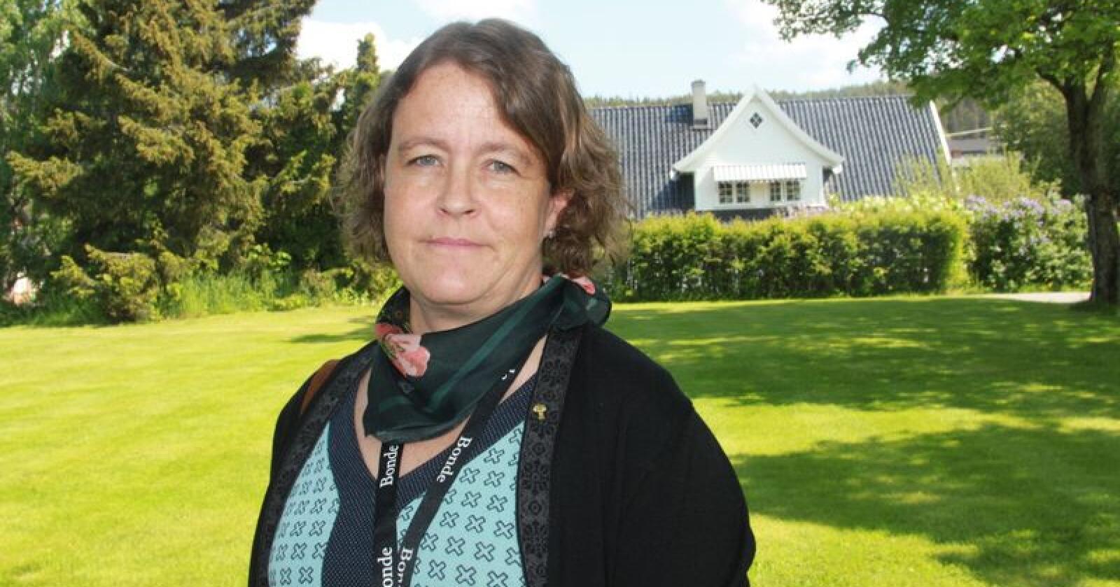 Elisabeth Gjems, leder i Hedmark Bondelag, mener sekretariatet for rovviltnemndene sin anbefaling vil ytterligere svekke sauenæringen i Rendalen. Foto: Svein Egil Hatlevik
