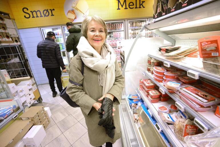 – Jeg kjenner Nyt Norge veldig godt, og ser alltid etter merket, uansett pris,  Liv Berit Moe fra Skogn i Levanger. Foto: Mariann Tvete
