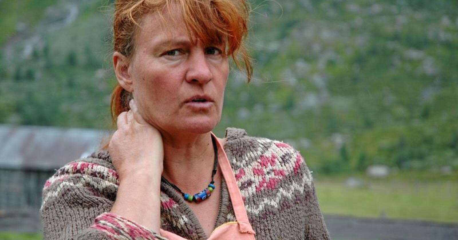 Katharina Sparstad i Norsk seterkultur ber om at de som driver med seterdrift skjermes når melkekvotene skal kuttes. Foto: Tanaquil Enzensberger