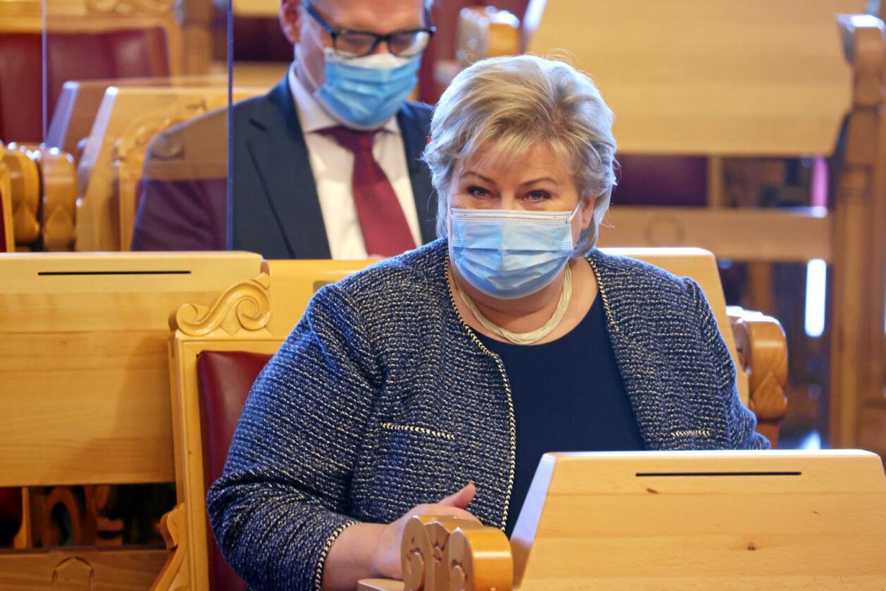 Statsminister Erna Solberg har et solid overtak over konkurrentene. Foto: Ørn E. Borgen / NTB