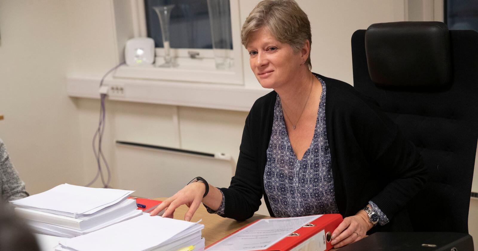 Lederen av Gjenopptakelseskommisjonen, Siv Hallgren, håpet å bli ferdig nå i oktober med å vurdere om Viggo Kristiansen skal få saken sin rettsbehandlet på nytt. Foto: Terje Bendiksby / NTB scanpix