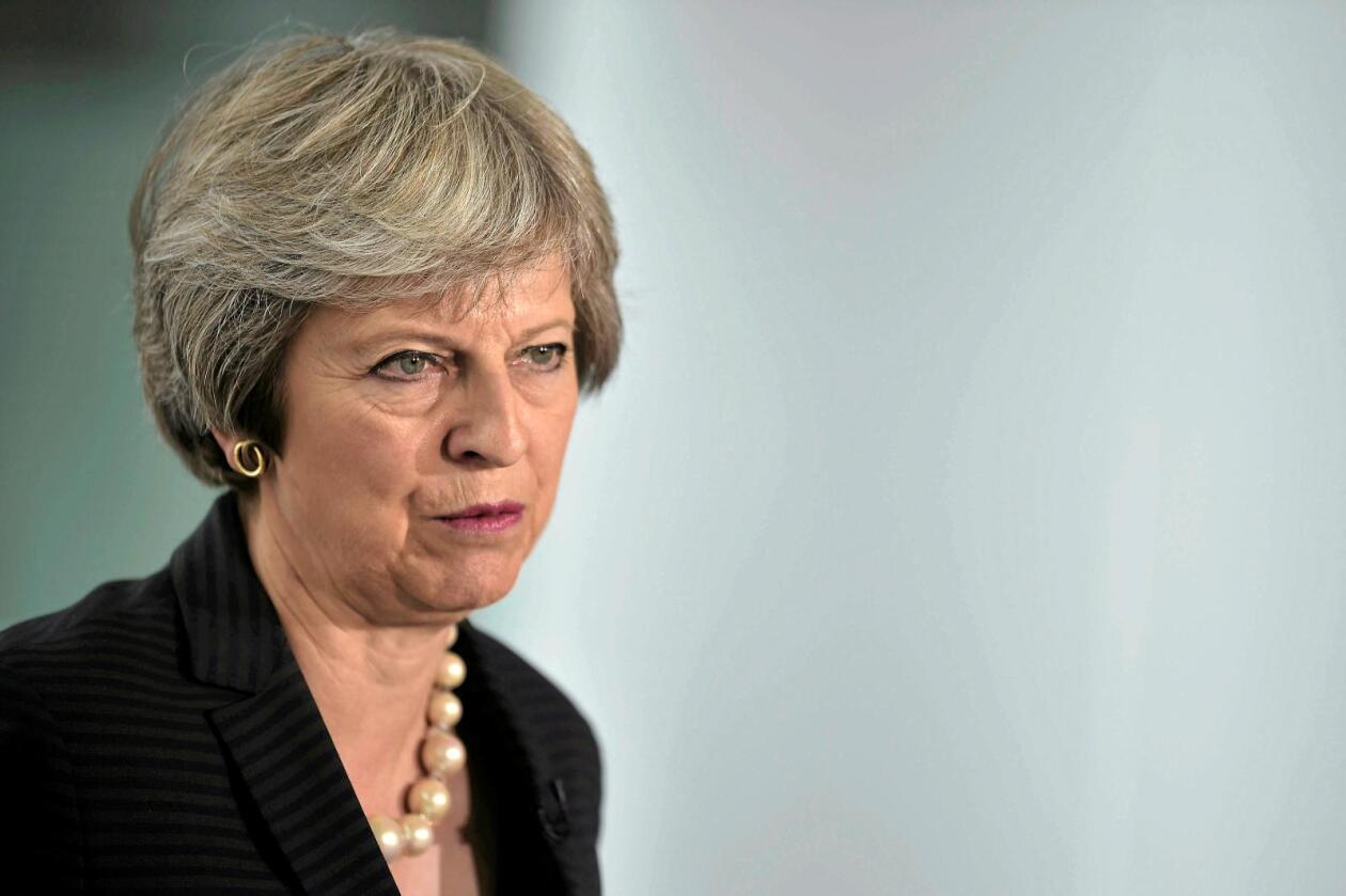 Misnøye: Britene er misfornøyde med Theresa Mays håndtering av Brexit. Foto: Reuters/Scanpix