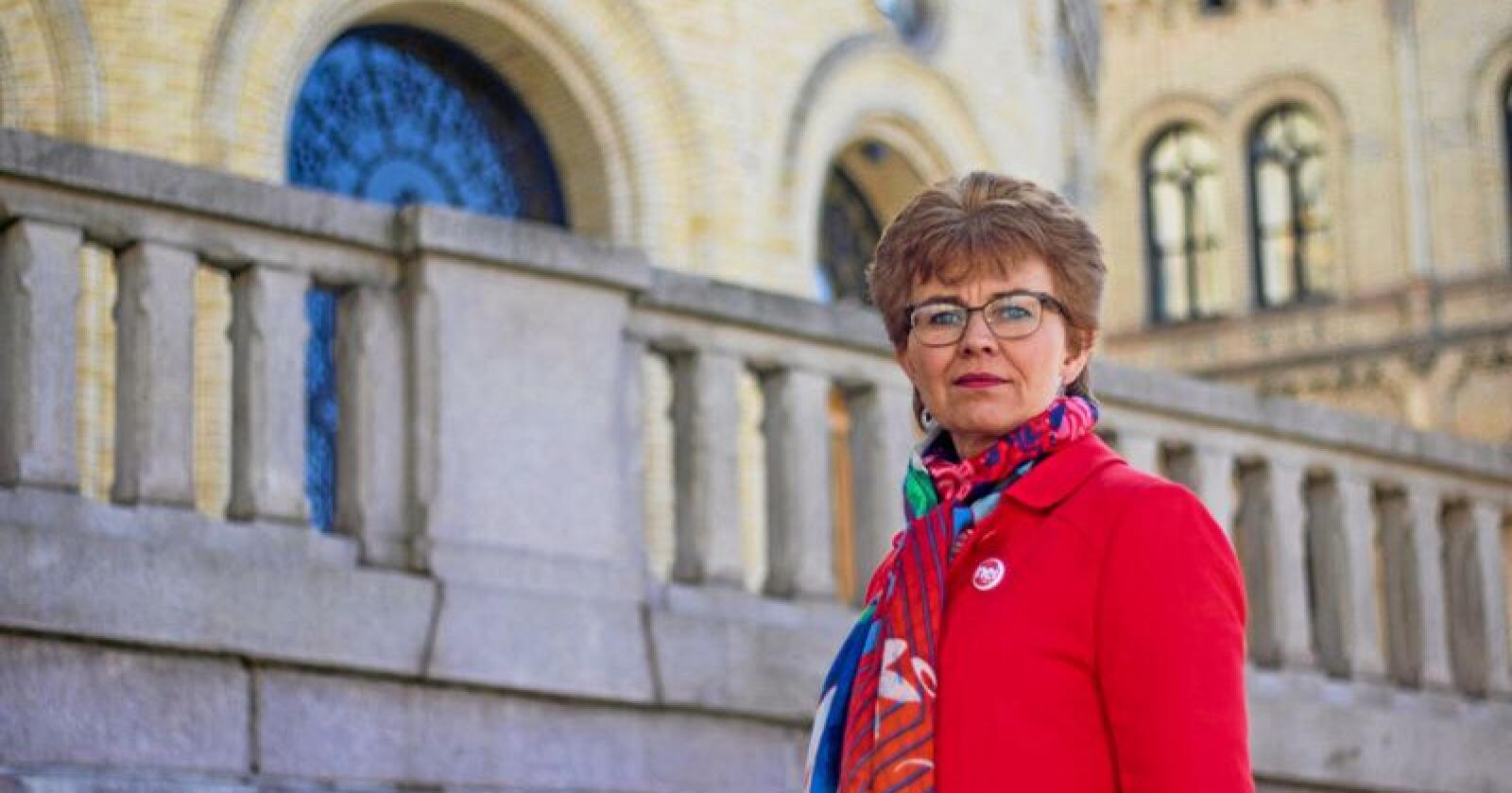 Leder i Nei til EU, Kathrine Kleveland, mener det er grunnlovsstridig når Norge knyttes til EUs energibyrå ACER. Foto: Nei til EU.