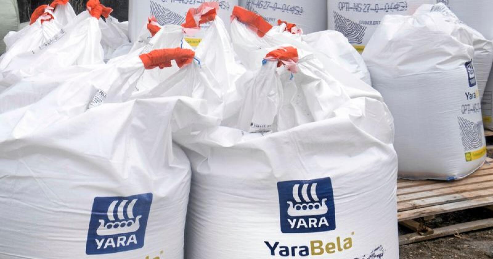 Yara skal gå gjennom produkta sine etter at EUs kjemikaliebyrå føreslo å forby tilsett mikroplast i gjødsel. Foto: Vidar Ruud/NTB scanpix