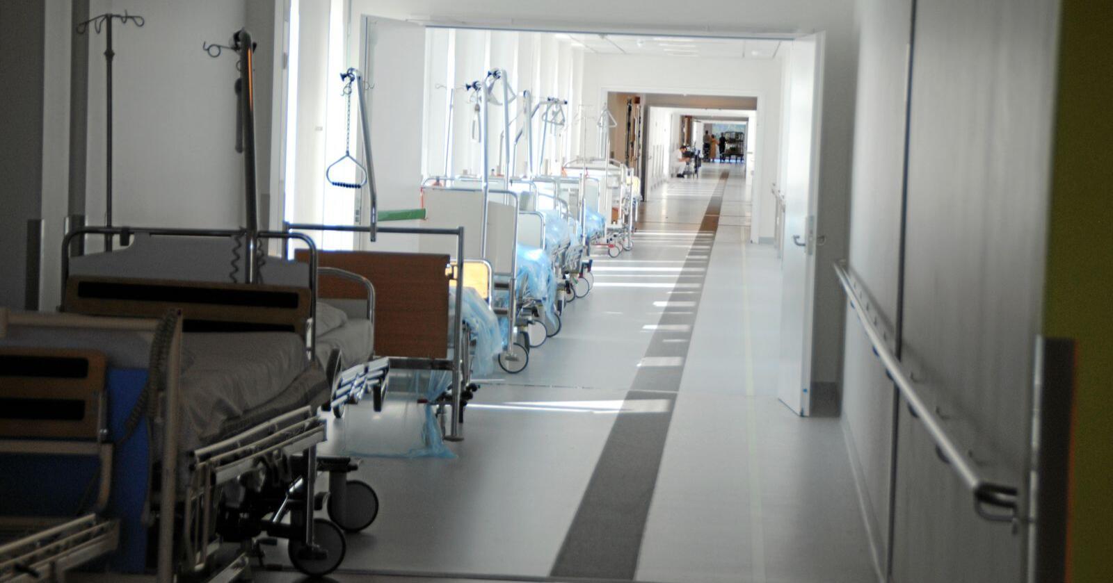Sprengt kapasitet: Sykehuset Østfold Kalnes er for lite, fem år etter at det stod ferdig. Foto: Lars Bilit Hagen