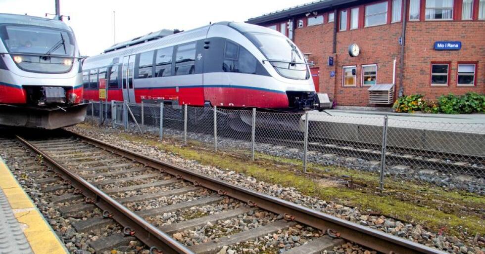 Nordlandsbanen: Togstasjonen i Mo i Rana. Foto: Gorm Kallestad/NTB scanpix