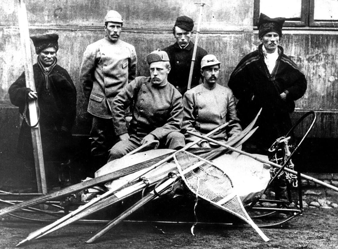 Skitur: Nansens krysning av det norske Grønland i 1888 stimulerte nasjonalfølelsen. Realpolitisk unnfallenhet kostet oss øya. Foto: Scanpix.