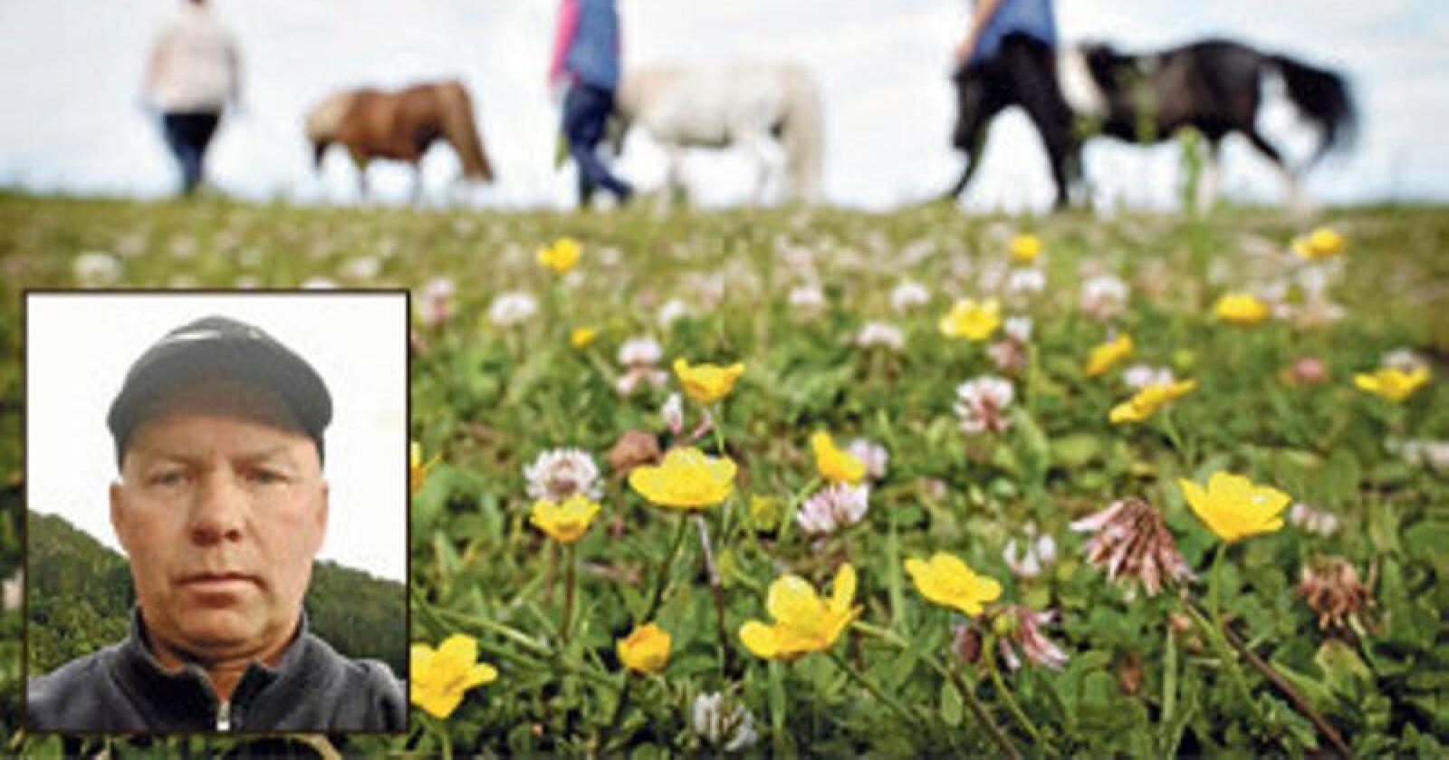 Frode Bergo Larsen krever gjennomføring av fagre ord om Inn på tunet-satsingen. Implementeringen av IPT svikter på lokalplanet, mener bonden. Foto: Privat