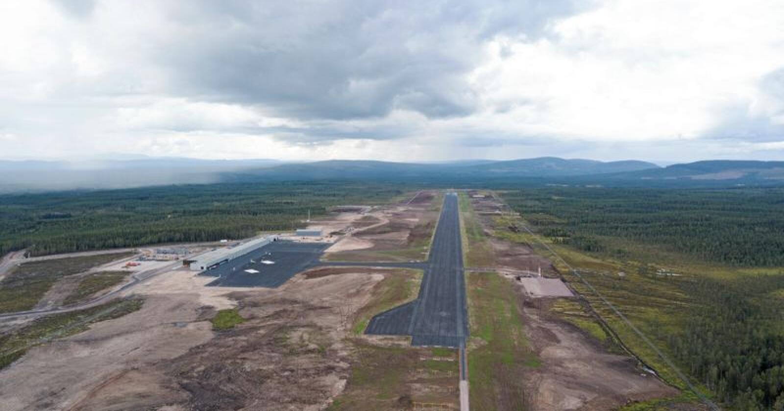 Flyplassen i Sälen åpnes 22. desember i år. Foto: Scandinavian Mountains Airport