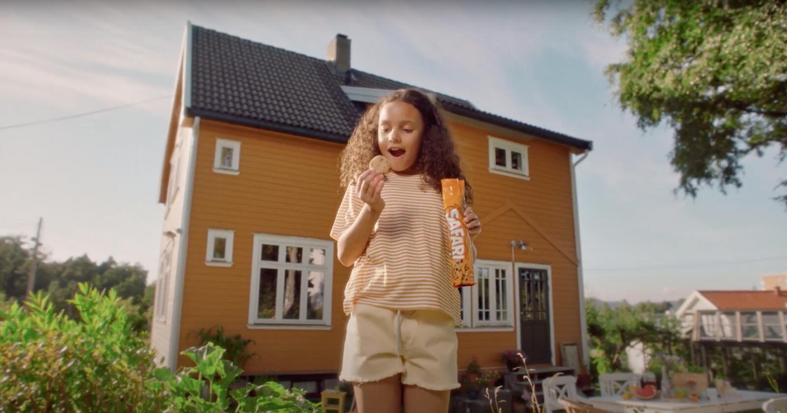 Bildet er hentet fra reklamefilmen som MFU mener er rettet mot barn. Foto: MFU