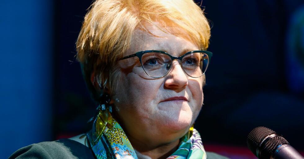 – Vi har en ruspolitikk som har feilet på mange områder, og som skaper mye utenforskap og tragedier, sier Venstre-leder Trine Skei Grande. Foto: Tore Meek / NTB scanpix