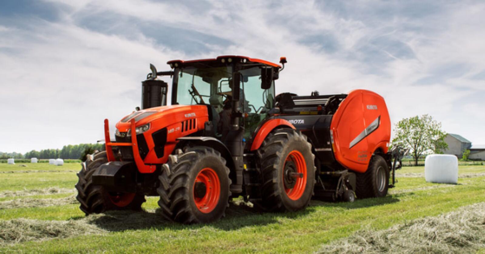 Kubotas nye M8-serie leveres i to modeller på 190 - og 210 hestekrefter. (Foto: produsenten)