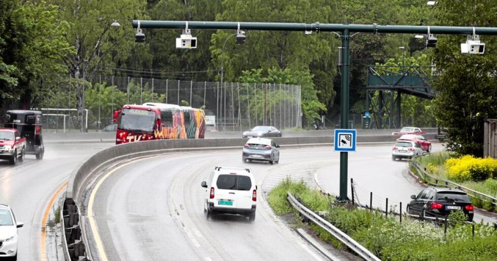 53 nye bomstasjoner i Oslo åpnet 1. juni her fra Bygdøylokket på E-18 mot Drammen i Oslo. Foto: Lise Åserud / NTB scanpix
