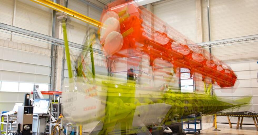 Gjennom 13 ulike testrigger skal Claas kunne simulere effektiviteten og holdbarheten på sine maskinkomponenter. (Foto: Claas Groupe)