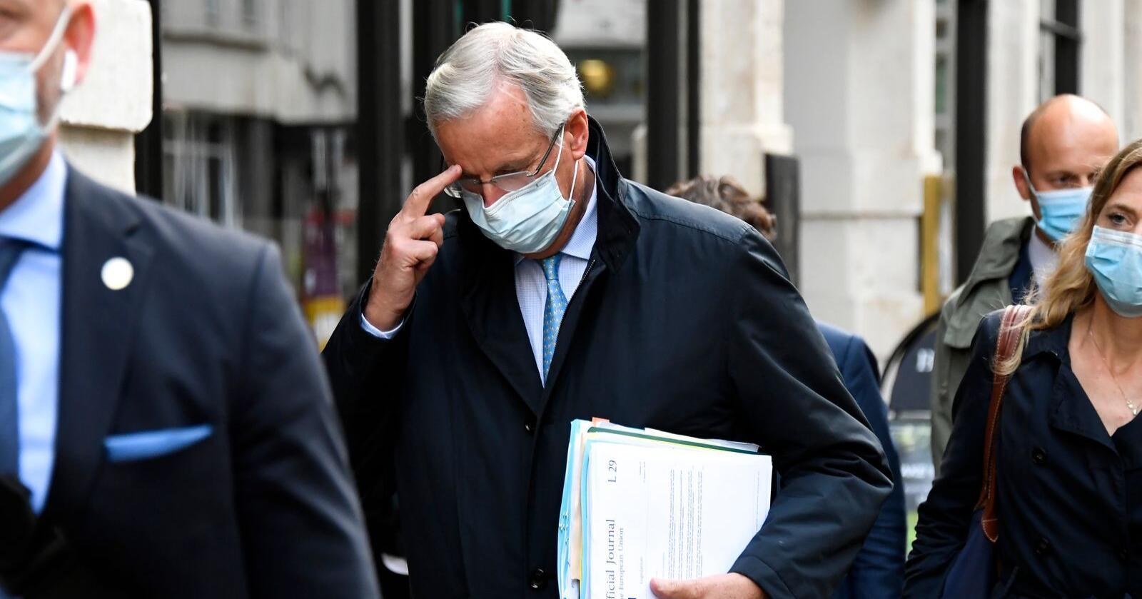 Forholdet til Storbritannia etter brexit er toppsak når EU-landenes ledere samles i Brussel torsdag og fredag, men sjefforhandler Michel Barnier har fortsatt ikke noen avtale klar med britene. Arkivfoto: Alberto Pezzali / AP / NB